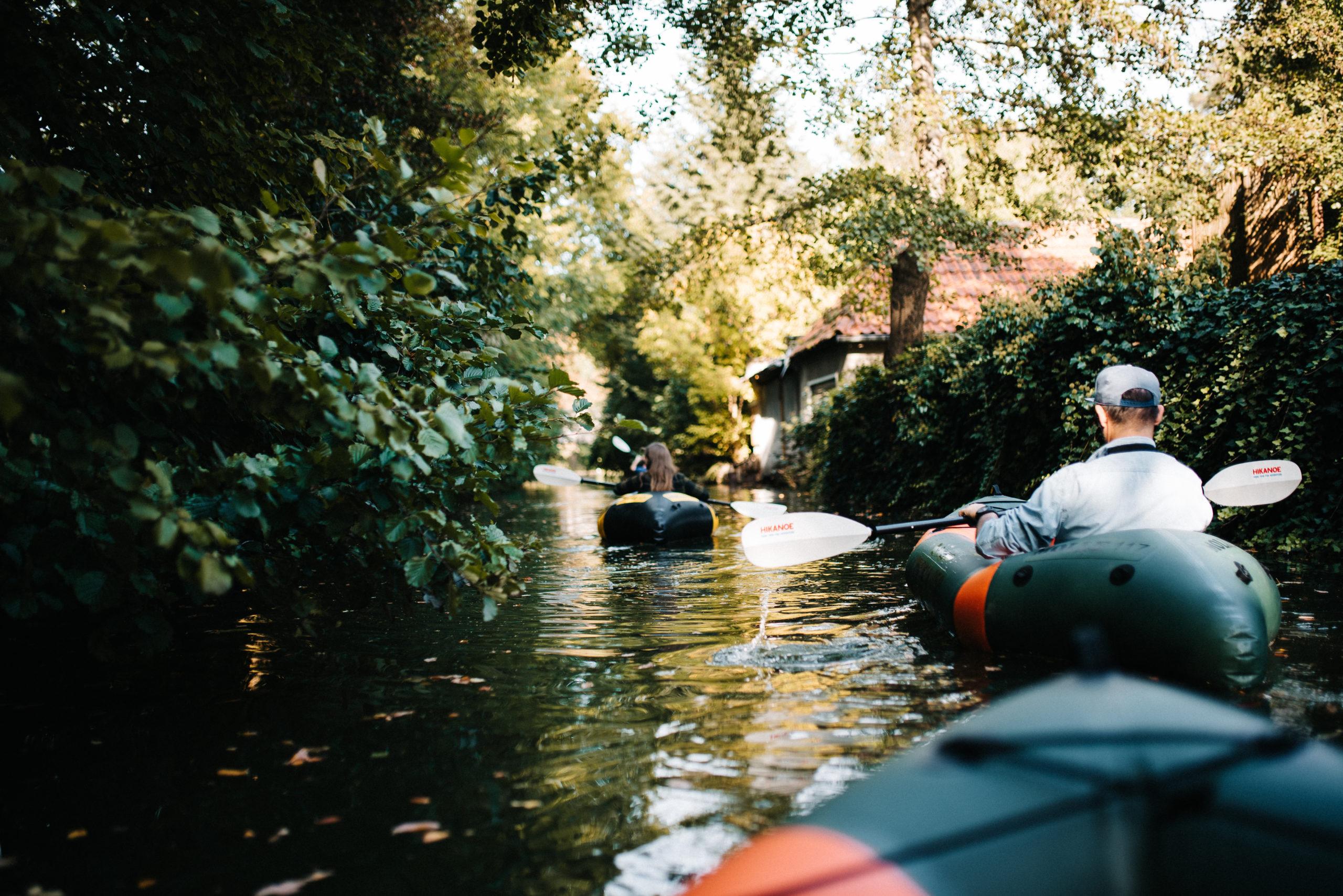 Packraft fahren- Spreewald Aktiv erleben- 2 Boote im Spreewald