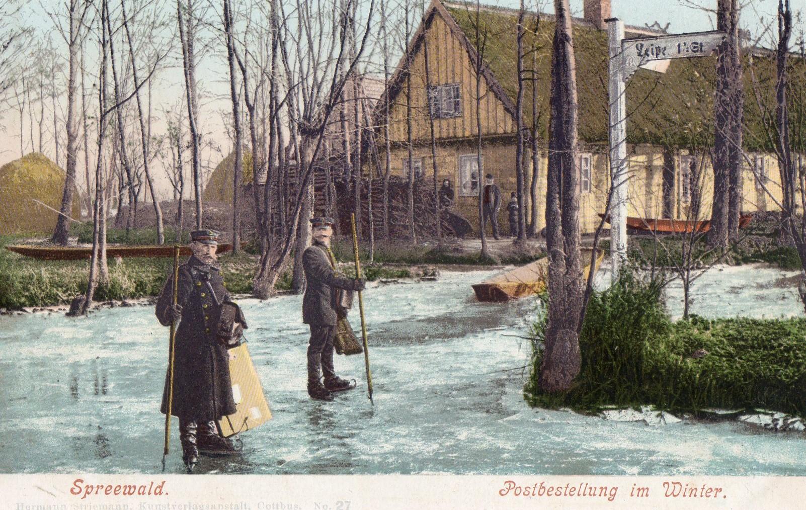 Eistäbe und 2 Männer in Uniformen